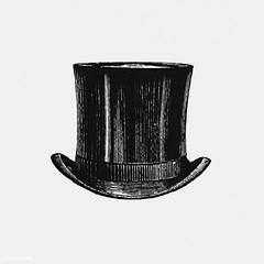 Vintage top hat illustration