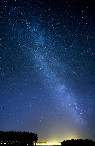 Condroz Way under the Milky Way