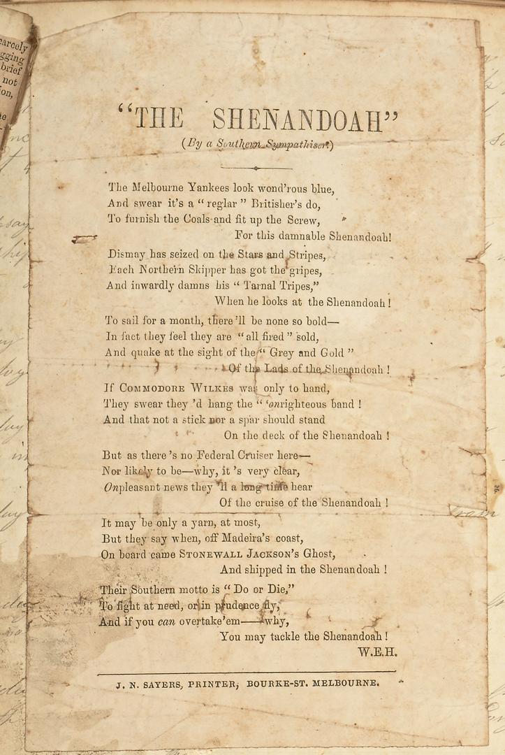 Poem for the Confederate Shenandoah