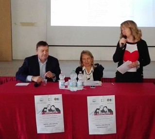 Il prof. Tricase, la dott.ssa Pontassuglia e la dott.ssa Savino