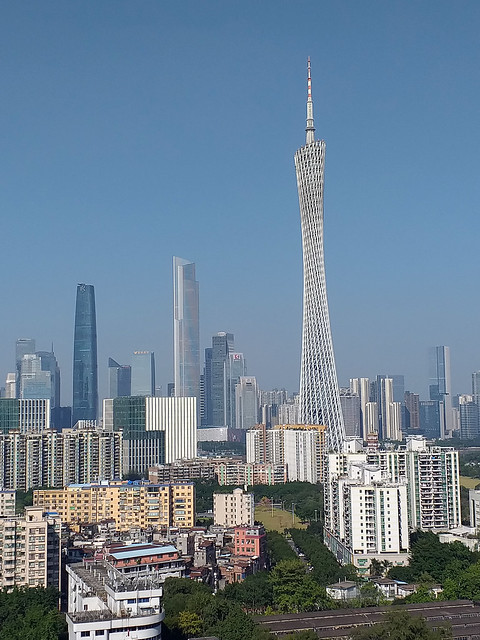 Canton Tower on a clear day