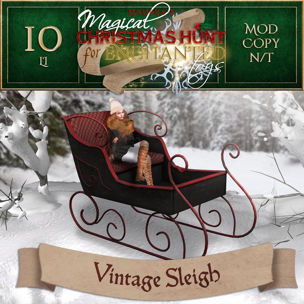 Vintage Sleigh MadPea Christmas Hunt Premium Prize