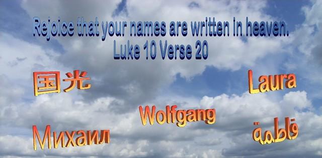 Luke 10 Verse 20 b