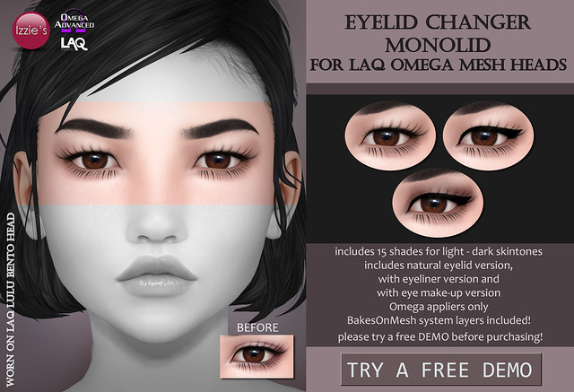 Eyelid Changer monolid (LAQ Omega) for FLF