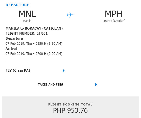 Cebu Pacific Snap Sale - Manila to Boracay