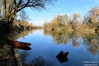 Karlovac, Croatia - Sunny autumn on river Korana