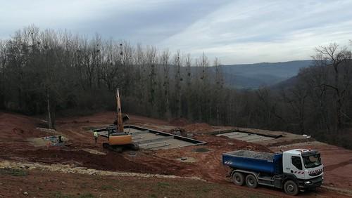 Construction de la station d'épuration du Pas