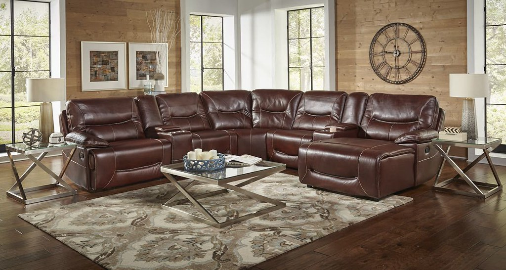 El Paso Walnut Reclining Sectional_$2495_78808
