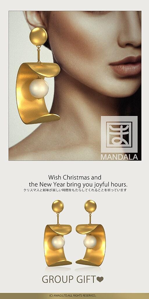 [MANDALA] Xmas gift MochiRoll earring