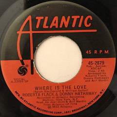 ROBERTA FLACK & DONNY HATHAWAY:WHERE IS THE LOVE(LABEL SIDE-A)