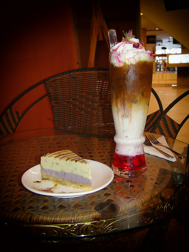 Rose Iced Latte - Lavender Cheesecake