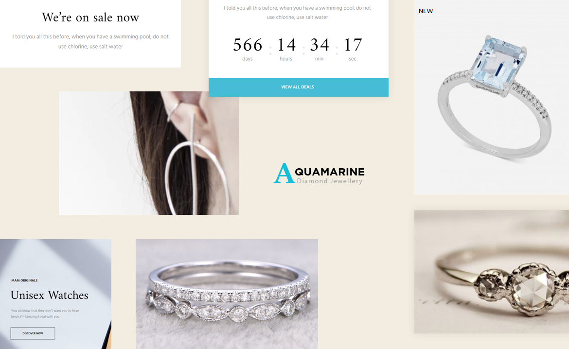 Leo Aquamarine - Jewelry Store Prestashop 1.7 theme
