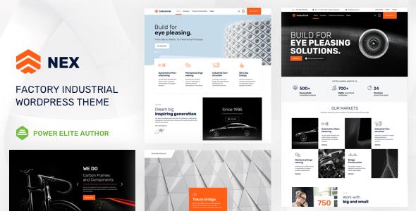 Nex v4.0 - Factory & Industrial WordPress