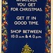 """Whatever you get for Christmas"" - London Underground poster, 1919"