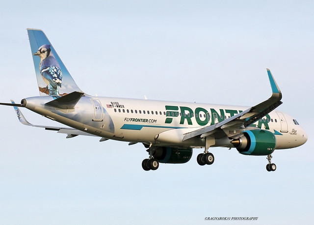 A320NEO FrontierAirlines F-WWDX-007 cn8102, Canon EOS 60D, Sigma 50-500mm f/4.5-6.3 APO DG OS HSM