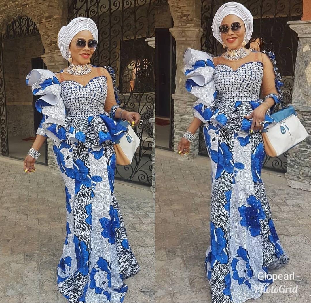 Tush Ankara Skirt & Blouse Designs for Traditional Wedding 1