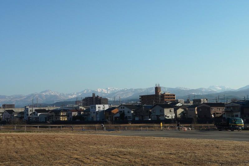 Mt. HAKUSAN from KANAZAWA City