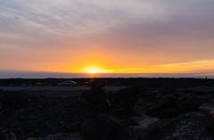 Lava fields sunset Big island Hawaii