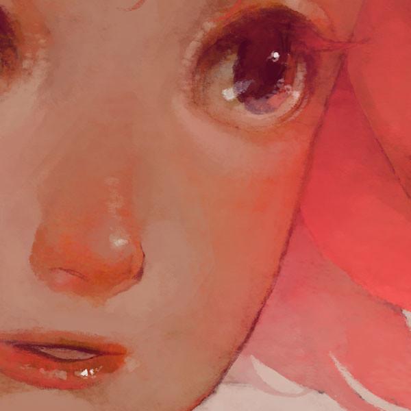 Pink hair closeup