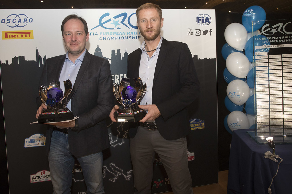 LUKYANUK Alexey (rus), ARNAUTOV Alexey (rus), Russian Performance Motorsport, FORD FIESTA R5, portrait during the ERC Prize Giving at Paris, France, december 3, 2018 - Photo Gregory Lenormand / DPPI