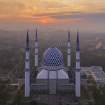 Sultan Salahuddin Abdul Aziz Mosque During Sunrise