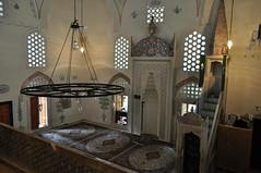 Salle de prières, mosquée de Karađoz Bey, 1557-1558,  Braće Fejića, Mostar, Herzégovine-Neretva, Bosnie-Herzégovine.