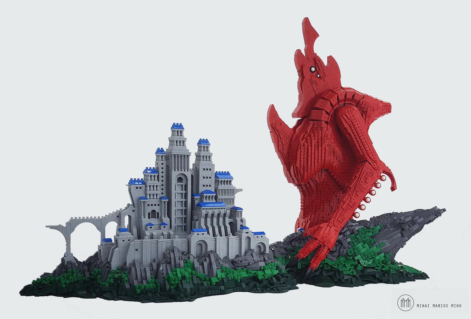 lego moc castle beast