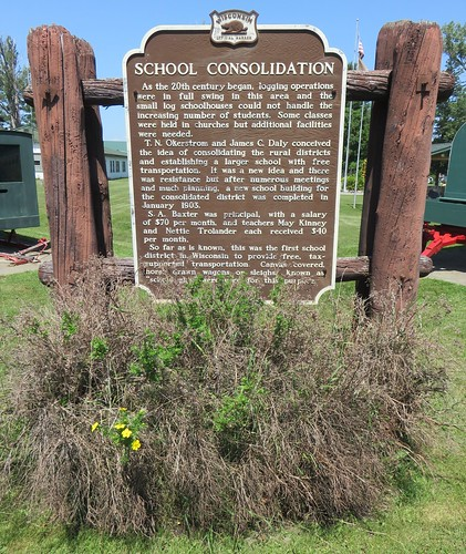 School Consolidation Marker (Port Wing, Wisconsin)