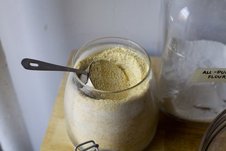 medium grind cornmeal is just fine