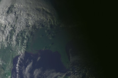 EST Sunset from space
