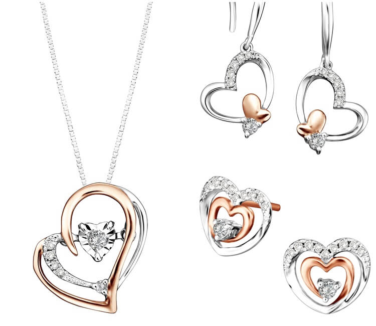 Open Heart Jewellery Sets