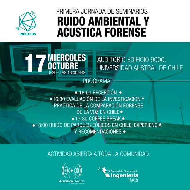 I Jornada de Seminarios INGEACUS: Ruido Ambiental – Acústica Forense