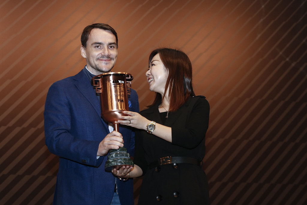 MICHELISZ Norbert, (hun), Hyundai i30 N TCR team BRC Racing, portrait prize giving ceremony  during the 2018 FIA WTCR World Touring Car cup of Macau, Circuito da Guia, from november  15 to 18 - Photo Francois Flamand / DPPI