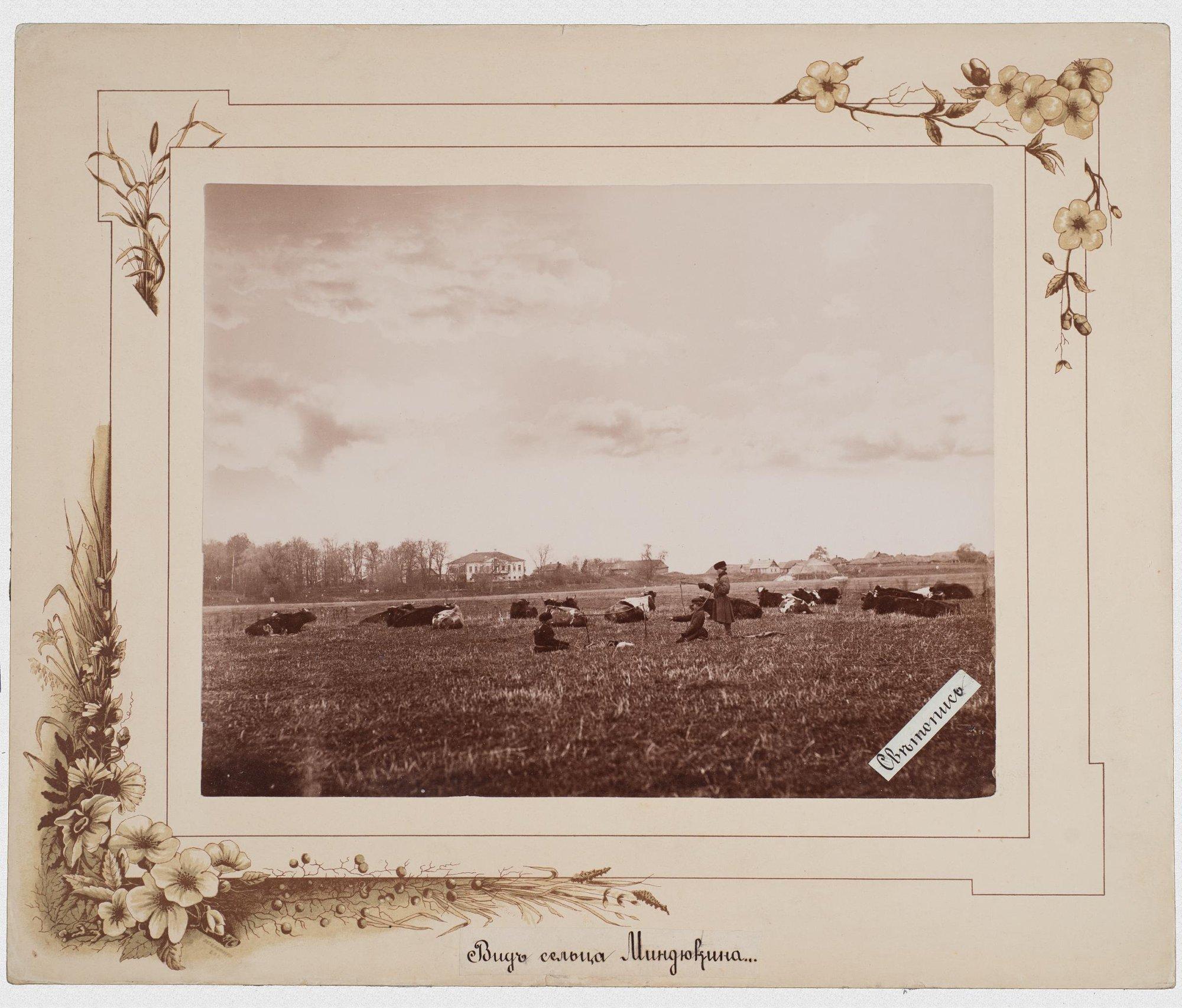 1900-е. Вид сельца Миндюкино