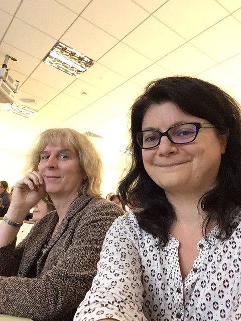 dimitra and cathy at Cardiff Booktalk 19 Nov 2018