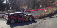 Ogier at Basse Correo Stage on Monte-Carlo Rally zoom