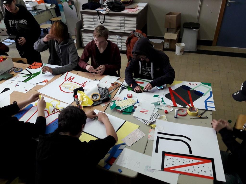 sessie 2 ateliersDKO schilderen met tape (12)