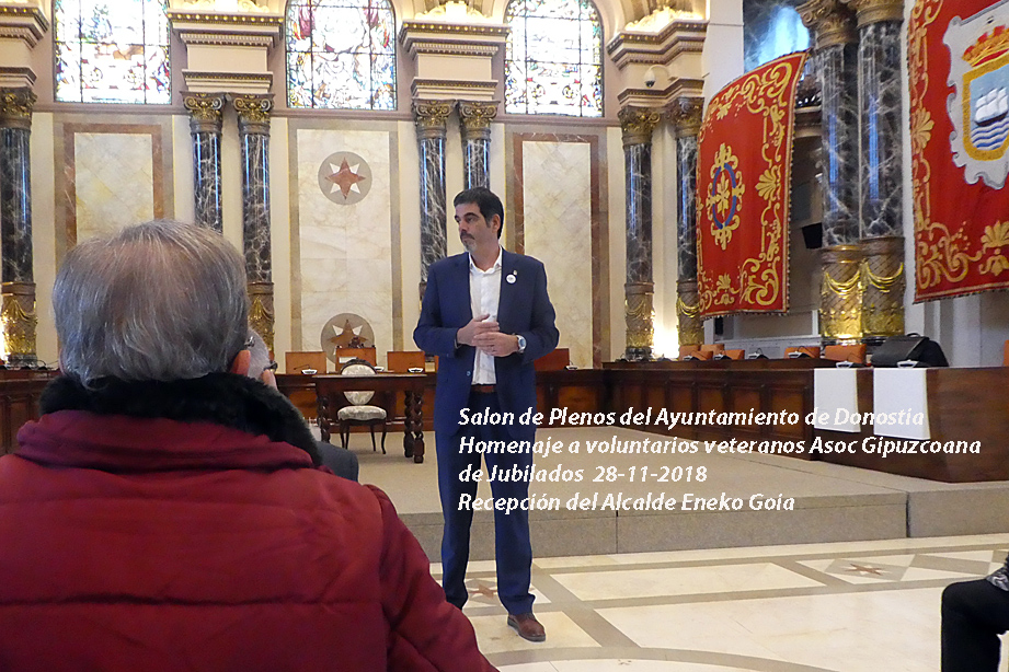 Homenaje Aguijupens en Ayuntamiento. Noviembre 2018.