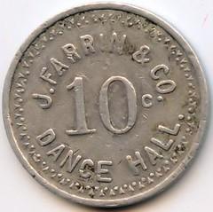 J. Farrin 10 cent token reverse