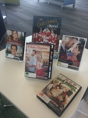 Christmas movie display