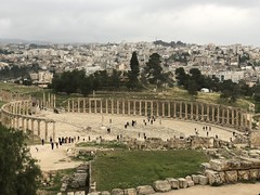 View of the Oval Forum at Jerash