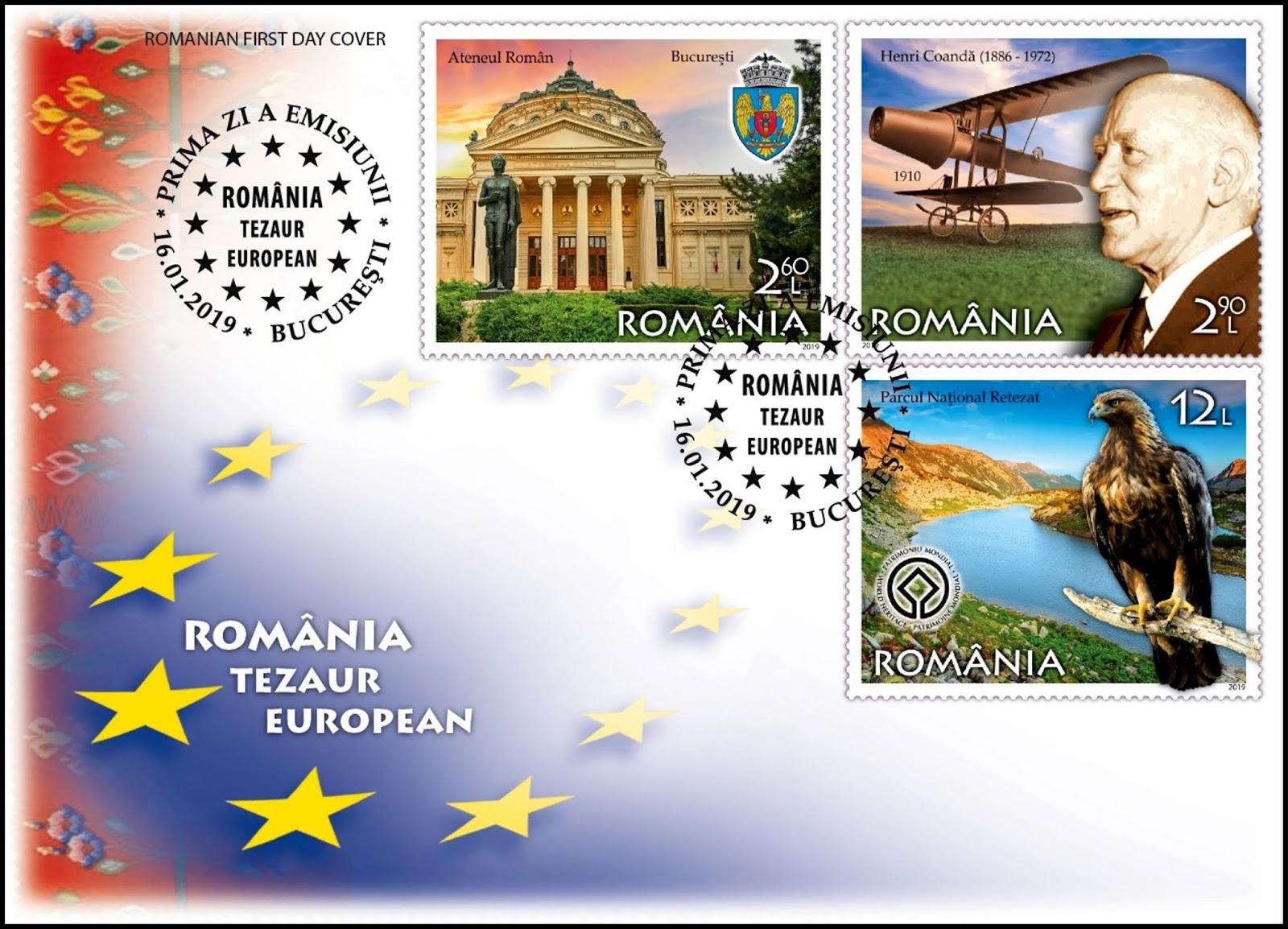 Romania - A European Treasure (January 16, 2019) first day cover #1