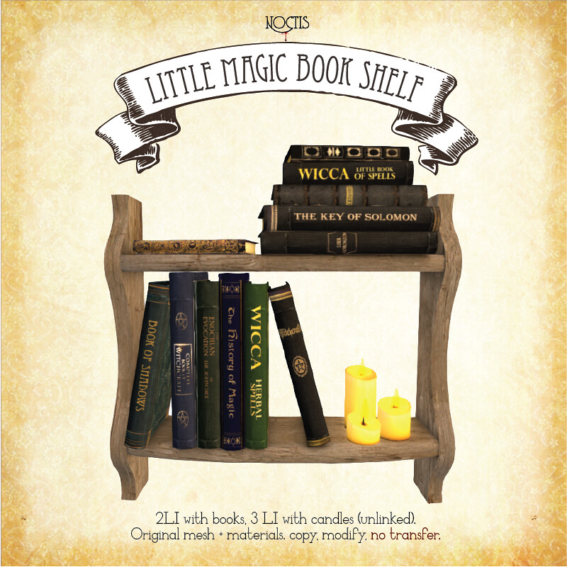 [noctis] Little magic book shelf-01