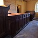 018-20180927_Little Washbourne Church-Gloucestershire-box Pews on S side of Nave viewed from beneath Chancel Arch
