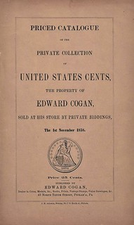 Cogan 1858 Sale of U.S. Cents