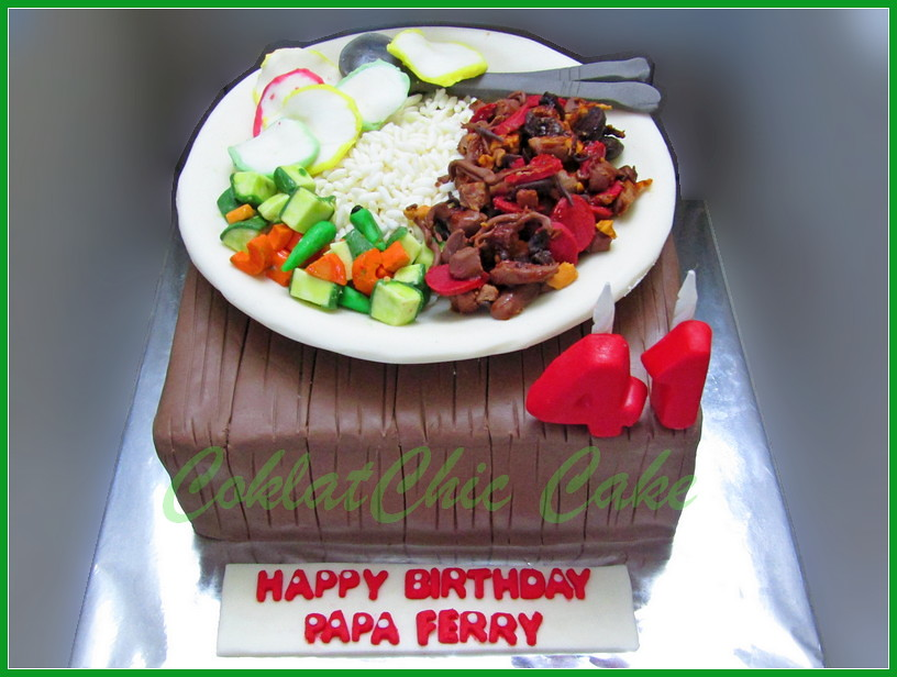 Cake nasi gila pedes - Papa Ferry 18 cm