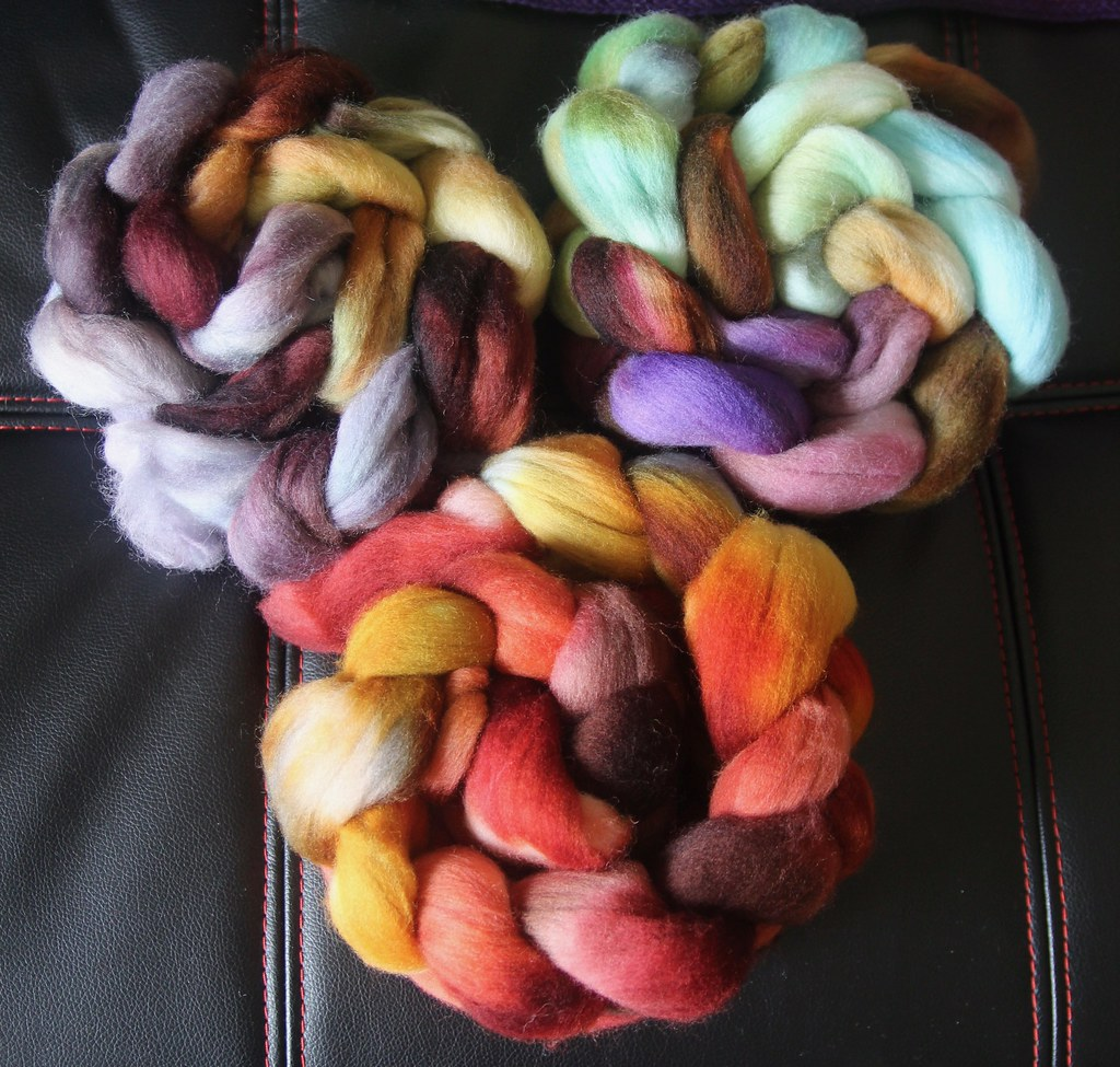 Corriedale Sock Spins