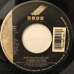 VANESSA WILLIAMS:SAVE THE BEST FOR LAST(LABEL SIDE-A)