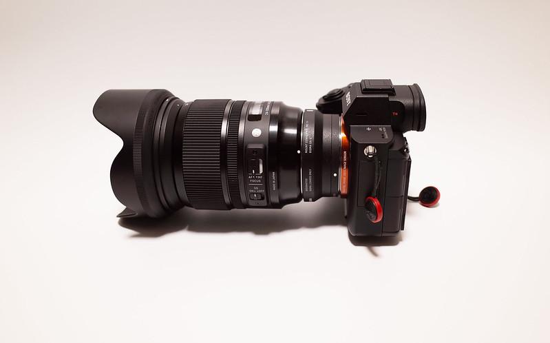 SIGMA 24-105mm をSONYα7Ⅲに取り付けたところ