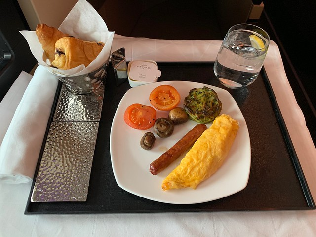 Etihad breakfast
